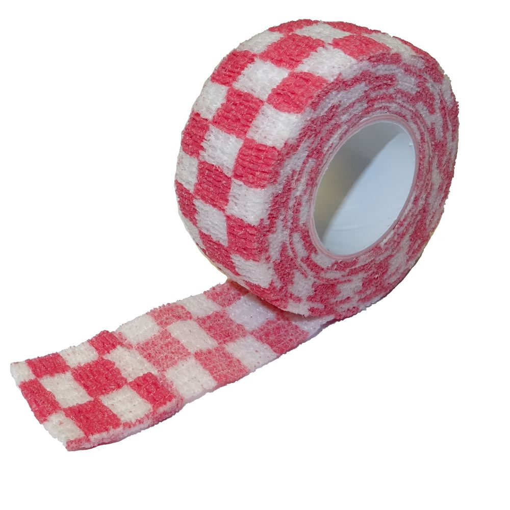 Pflasterverband 2.50cm, rot-weiss-kariert (1Rolle)