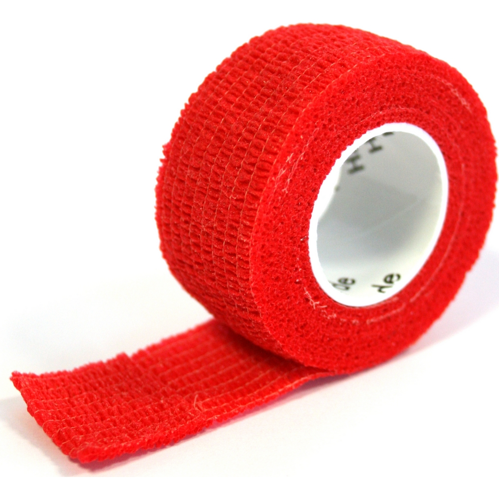 Pflasterverband 2.50cm, rot (1Rolle)