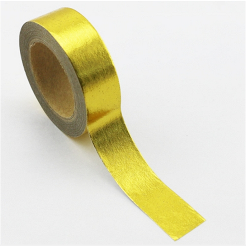 Washi Tape Folie, gold uni (15mm/10m)
