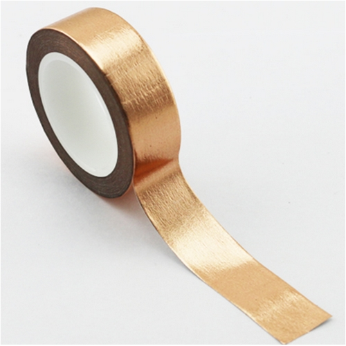 Washi Tape Folie, rotgold (15mm/10m)
