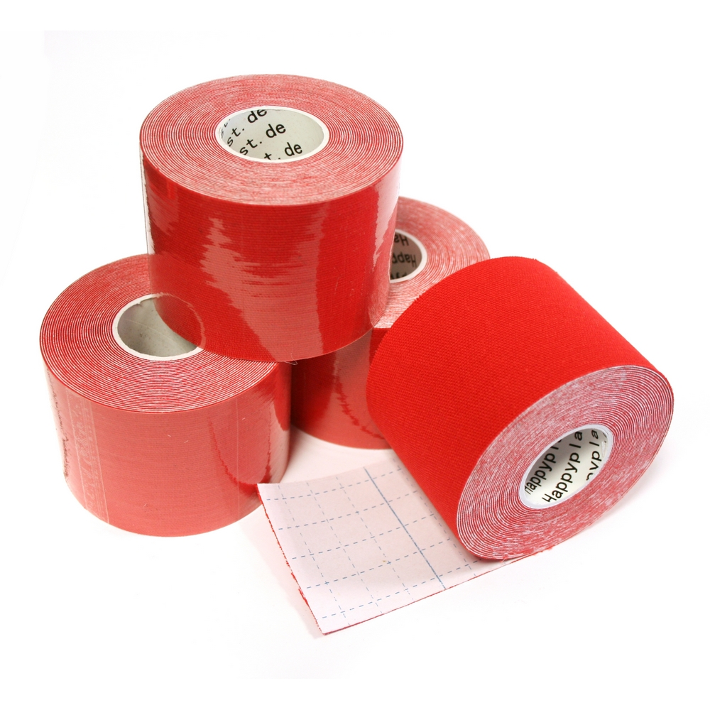 Kinesiologie Tape 5 cm, rot (1 Rolle)