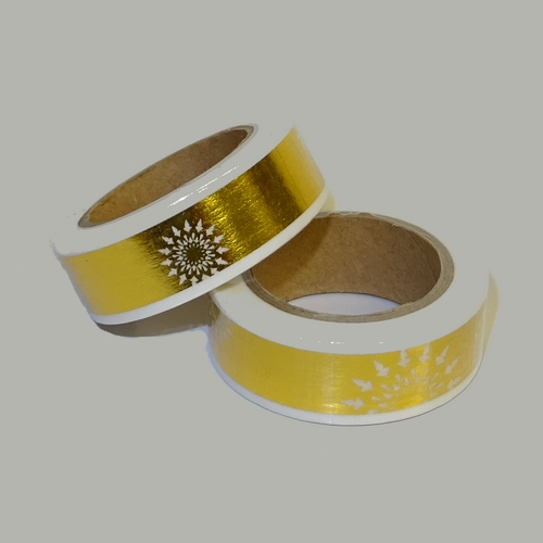 Washi Tape Folie, gold mit Muster (1 Rolle)
