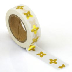 Washi Tape gold Blumen