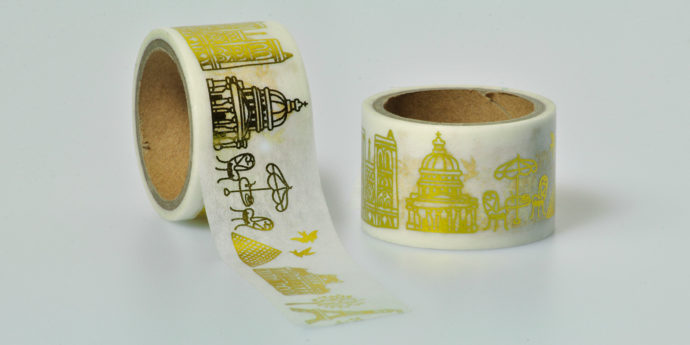 Washi Tape gold Gebäude