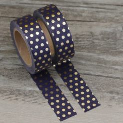 Washi Tape goldene Punkte