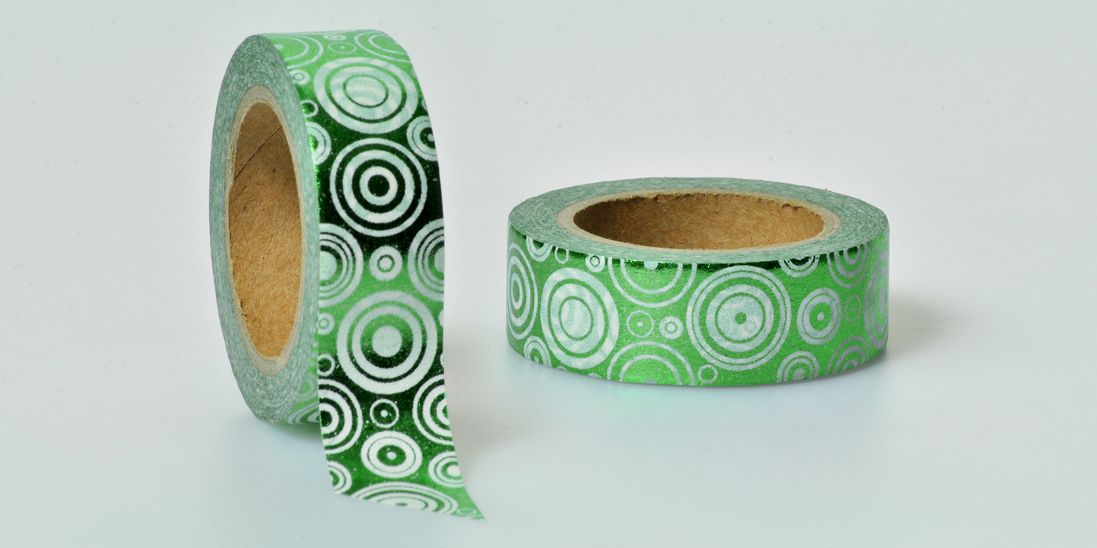 Washi Tape grün metallic folia
