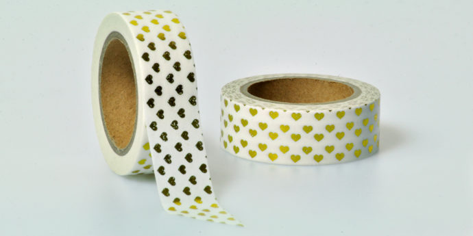 Washi Tape Herz gold