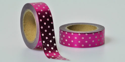 Washi Tape punkte lila folia